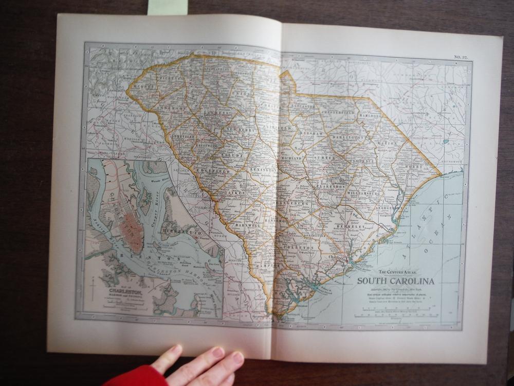 The Century Atlas  Map of South Carolina (1897)