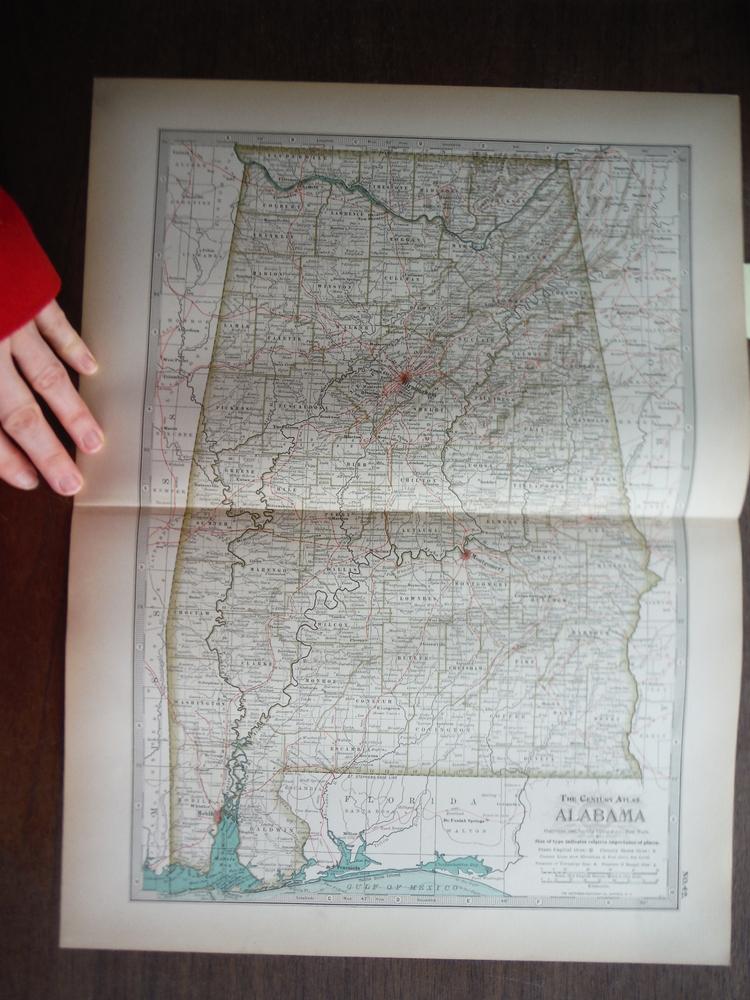 The Century Atlas  Map of Alabama (1897)