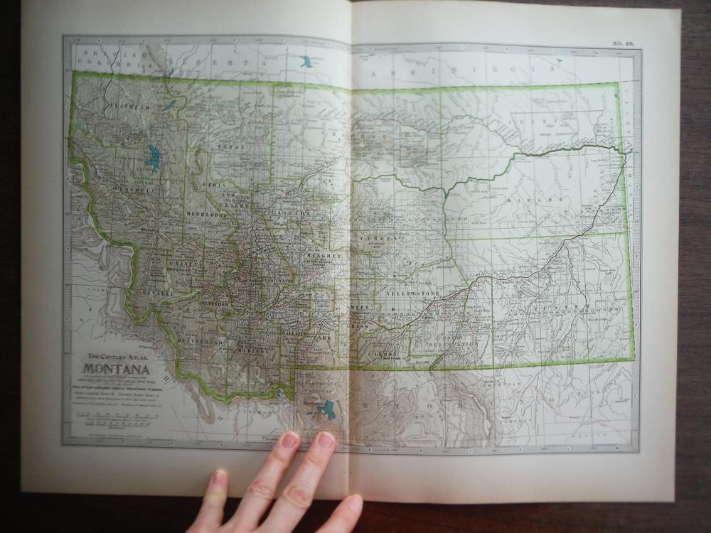 The Century Atlas  Map of Montana (1897)