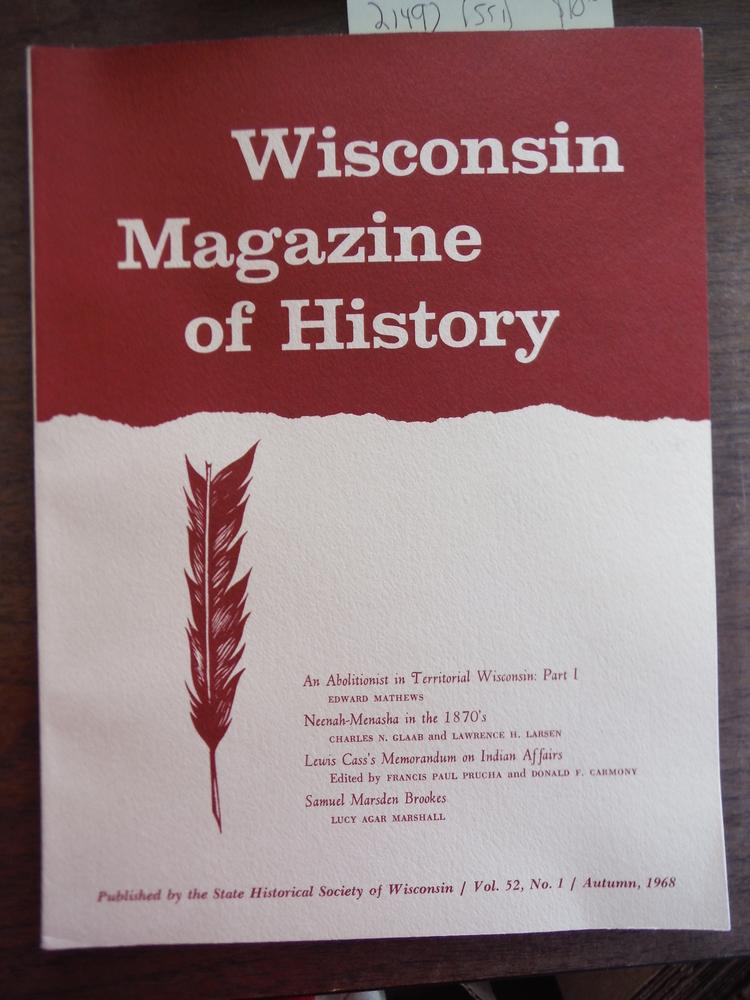 Wisconsin Magazine of History Vol 52, No. 1 Autumn 1968