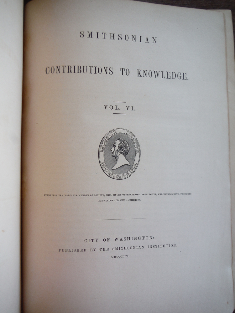 Image 1 of Smithsonian Contributions to Knowledge Vol. VI (1854)