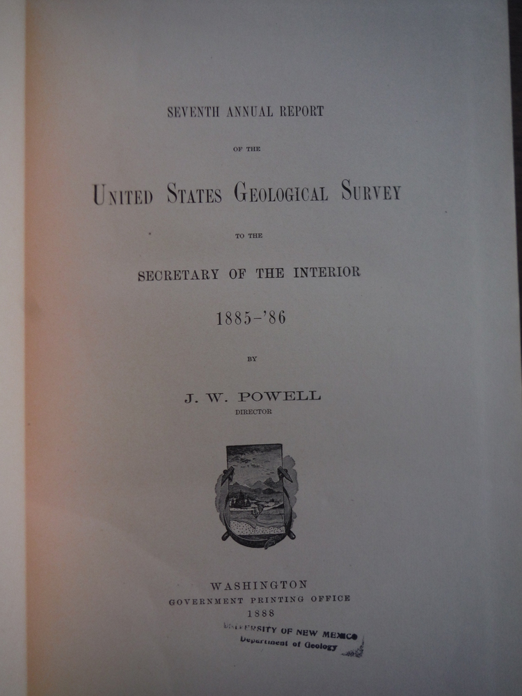 Image 1 of Seventh Annual Report of the United States Geological Survey to the Secretary of