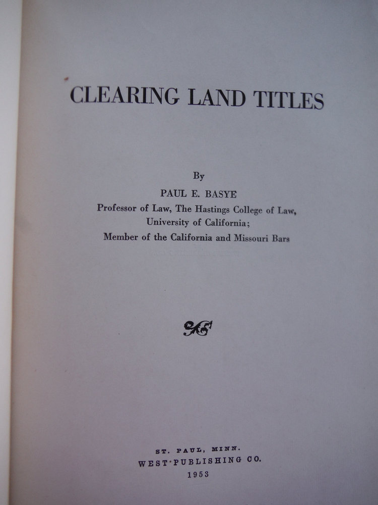 Image 1 of Clearing Land Titles