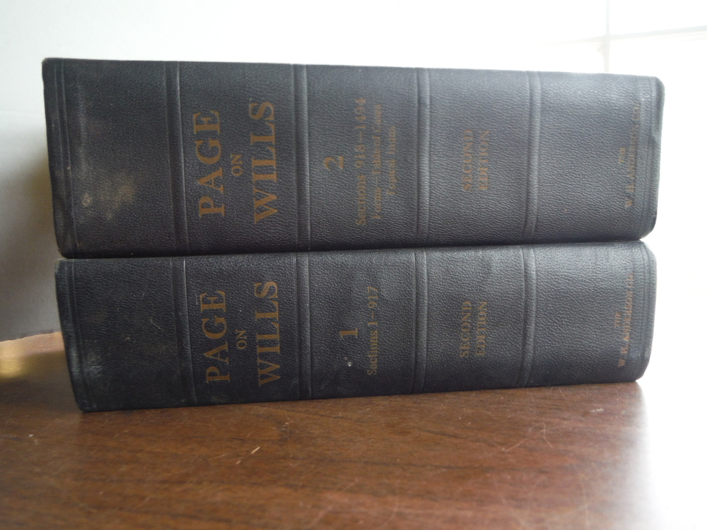 The Law of Wills (2 Vols)