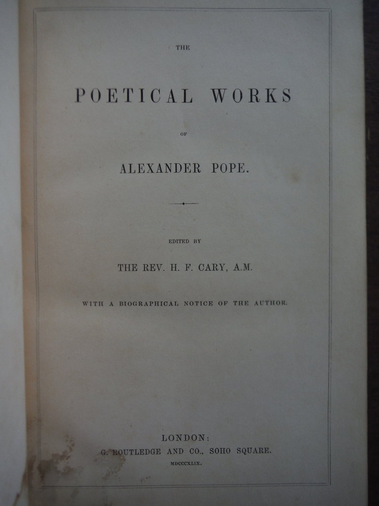 Image 1 of Poetical works of Alexander Pope. 2nd Edition