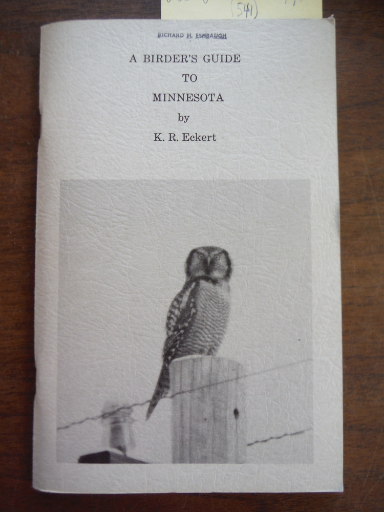 A Birder's Guide to Minnesota [First Edition]