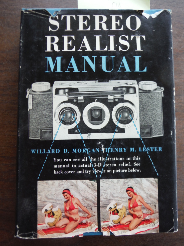 Stereo Realist Manual. 1954. Cloth with dustjacket with 3-D Stereo Glasses.