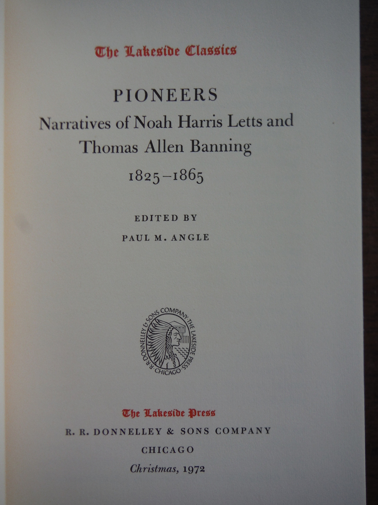 Image 1 of Pioneers: Narratives of Noah Harris Letts and Thomas Allen Banning