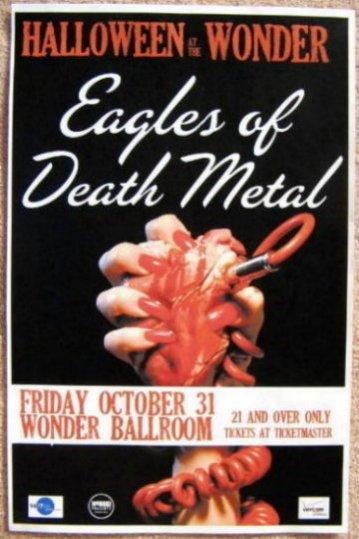 EAGLES OF DEATH METAL 2008 Gig POSTER Portland Oregon Concert  Version 1