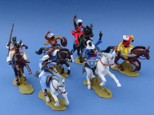 Britains Deetail DSG Toy Soldiers Arab Warriors on Horseback