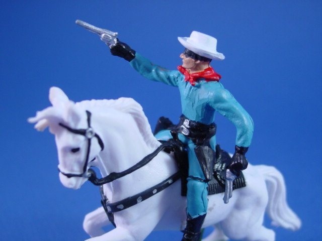 Britains Deetail Toy Soldiers Western Hero The Lone Ranger on Silver