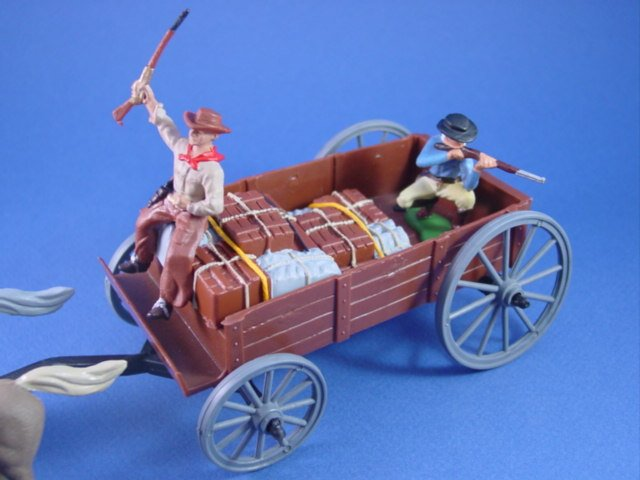 Britains Deetail DSG Toy Soldiers Wild West Supply Wagon