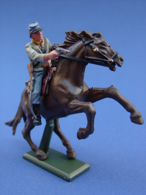 Britains Super Deetail Plastics American Civil War Confederate Cavalry Trooper