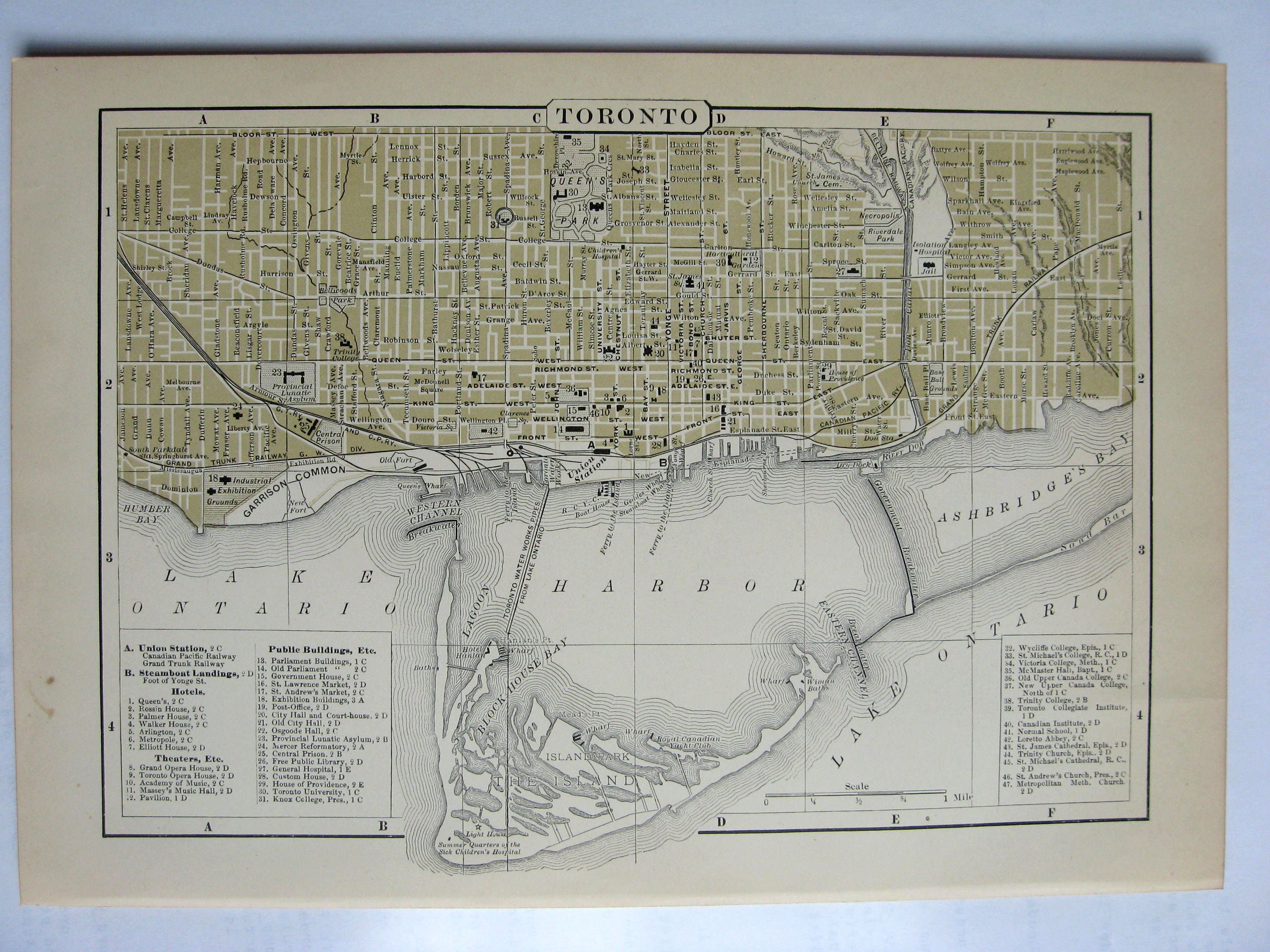 Johnson's  Map of Toronto (Ontario) -  Original (1897)