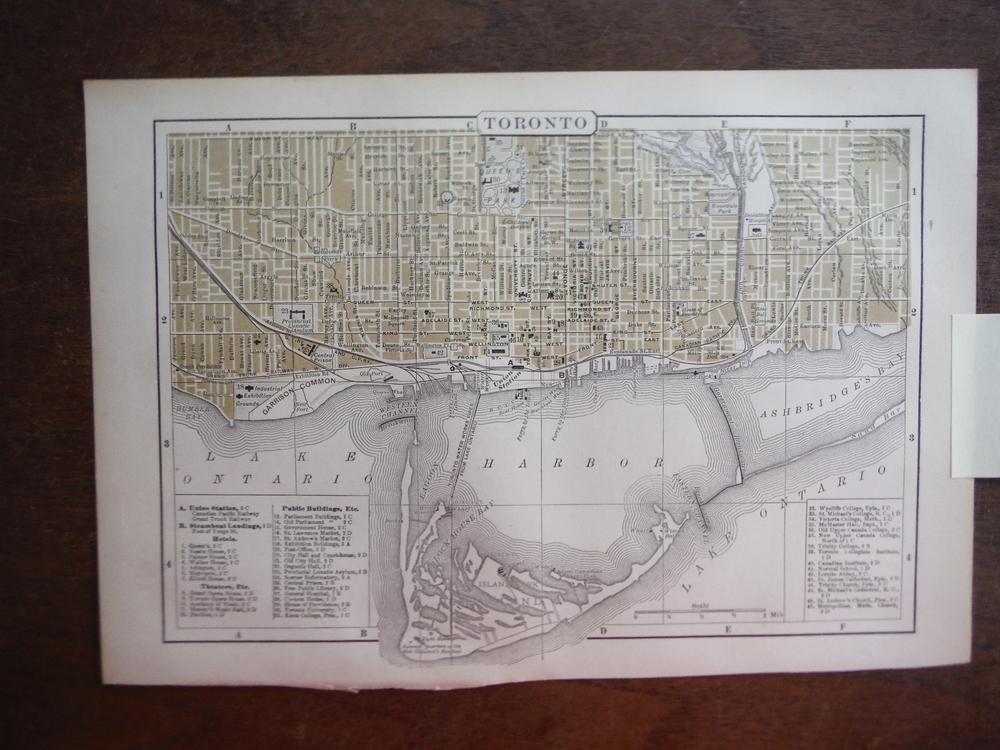 Johnson's  Map of Toronto (Ontario) -  Original (1895)