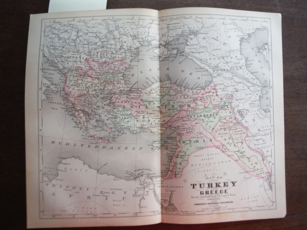 Johnson's  Map of Turkey and Greece -  Original (1895)