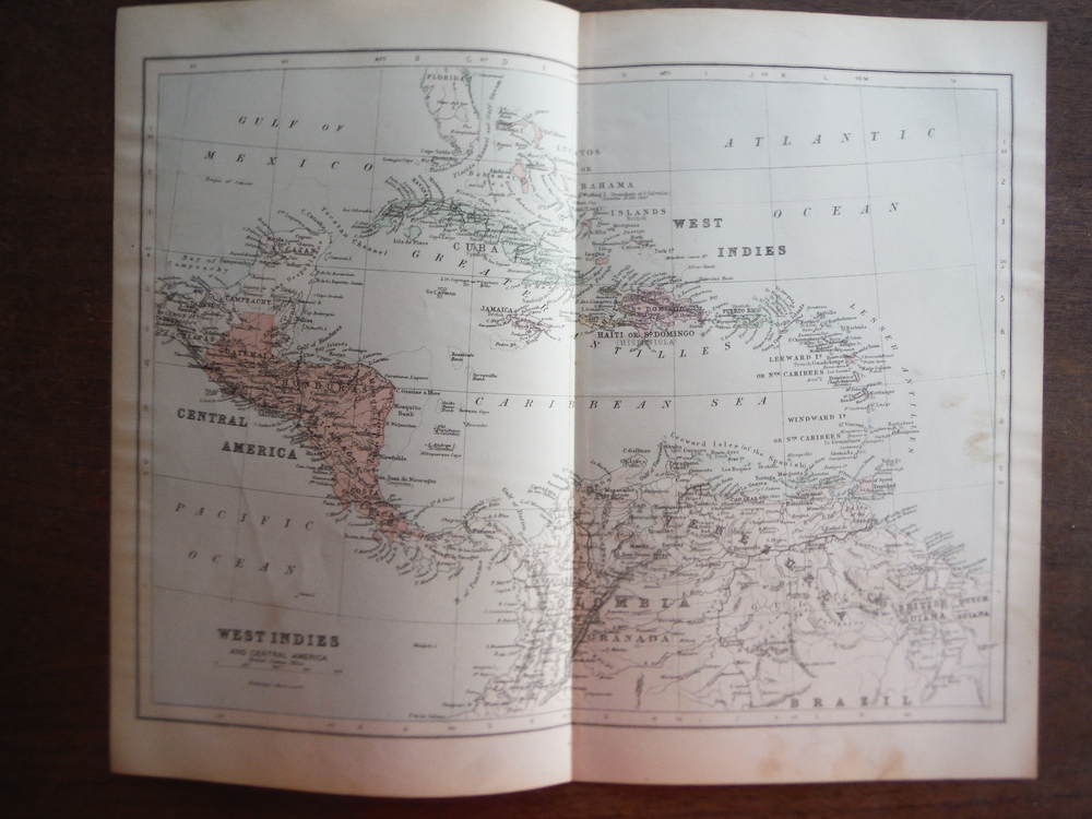 Johnson's  Map of West Indies and Central America -  Original (1895)