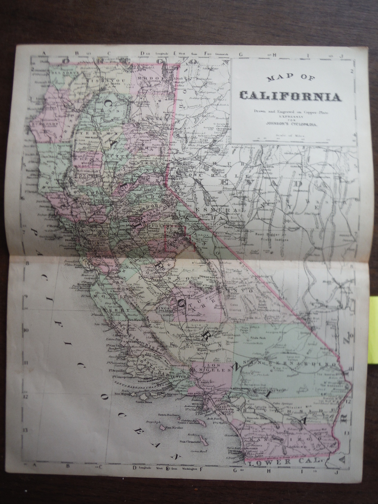 Johnson's  Map of California -  Original (1895)