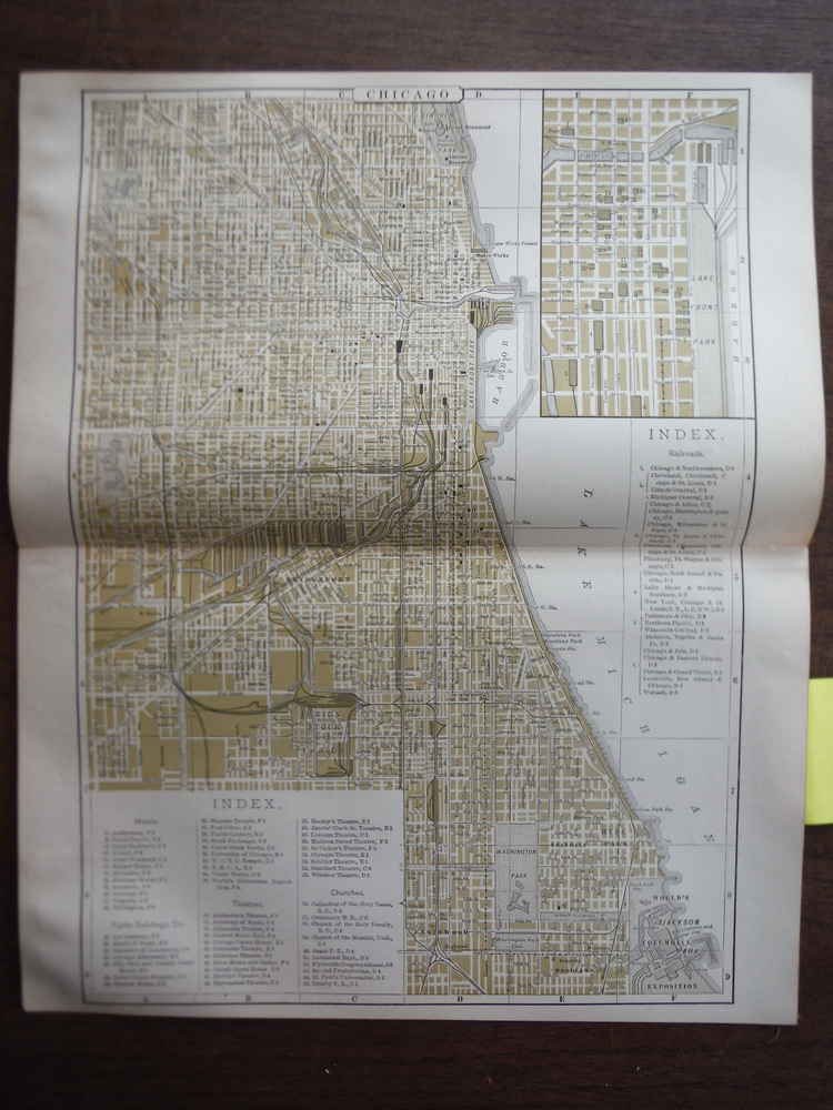 Johnson's  Map of Chicago (Illinois) -  Original (1895)