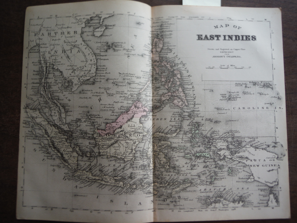 Johnson's Map of East Indies  -  Original (1895)