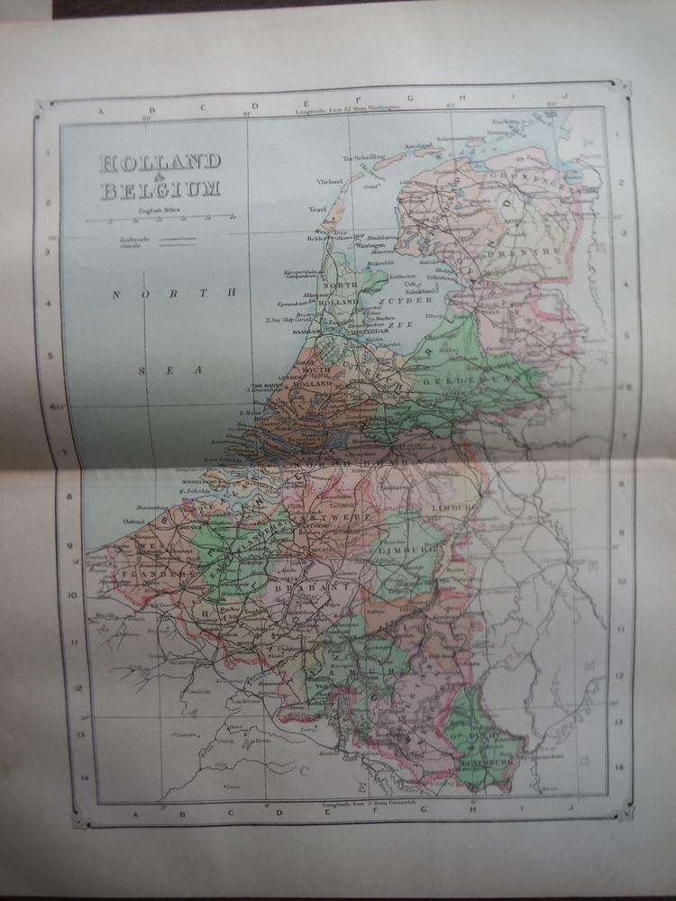 Johnson's  Map of Holland & Belgium -  Original (1895)