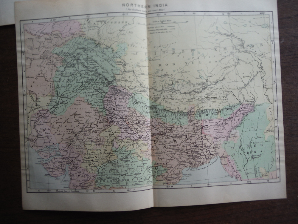 Johnson's  Map of Northern India -  Original (1895)