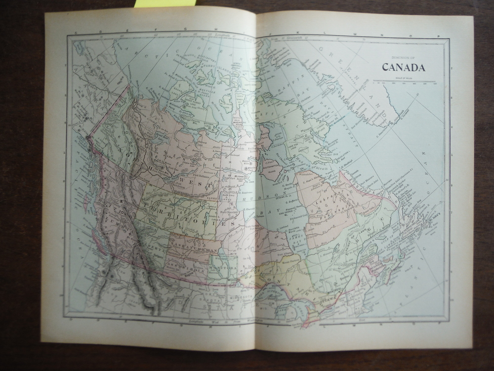 Universal Cyclopaedia and Atlas Map of the Dominion of Canada -  Original (1902)