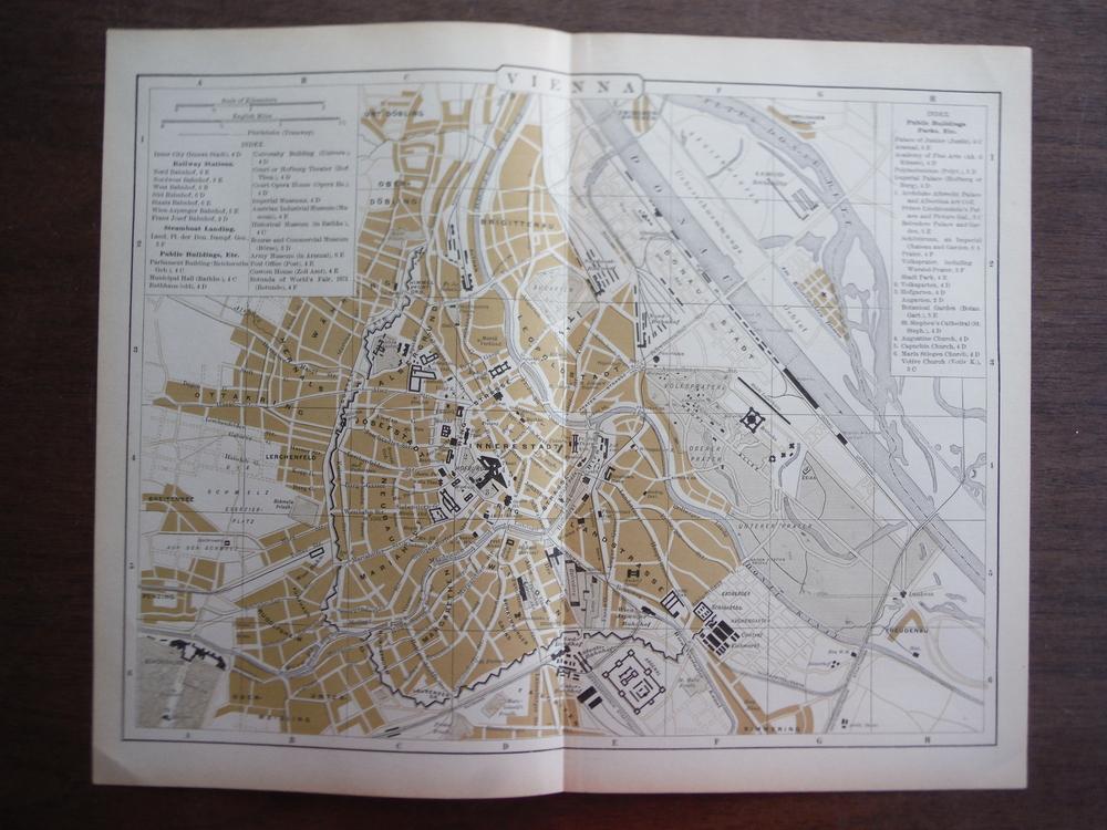 Universal Cyclopaedia and Atlas Map of Vienna (Austria)   Original (1902)