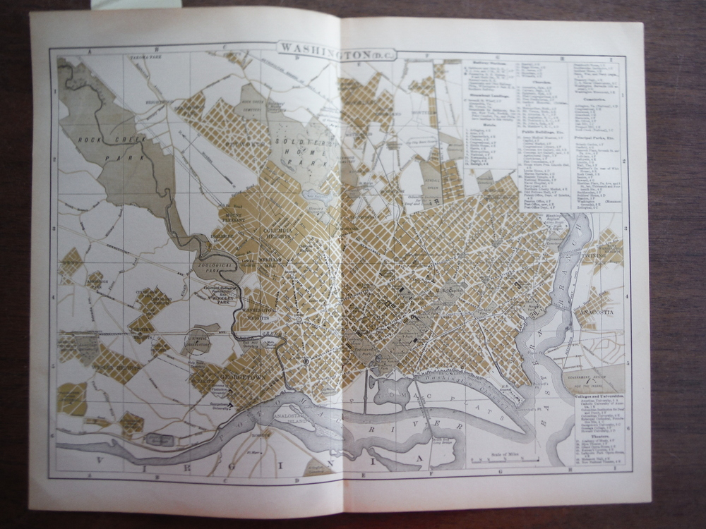 Universal Cyclopaedia and Atlas Map of Washington, D. C. -   Original (1902)