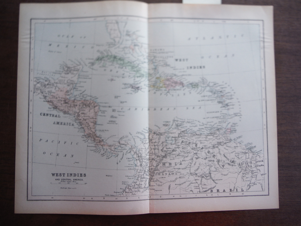 Universal Cyclopaedia and Atlas Map of the West Indies and Central America -   O