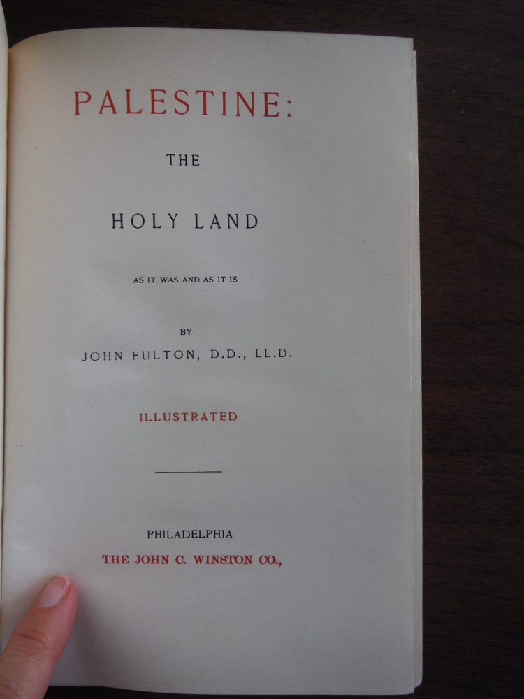 Image 1 of Palestine: the Holy Land, as It Was and as It is