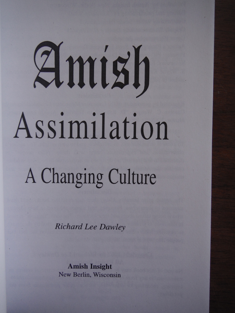 Image 1 of Amish Assimilation: a Changing Culture