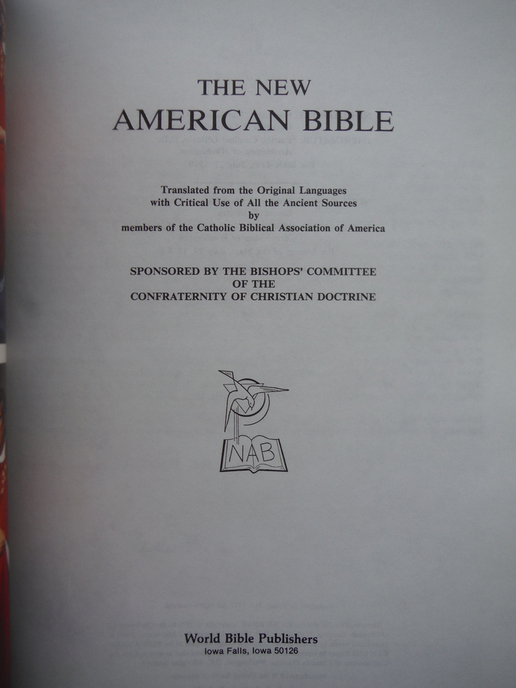 Image 2 of The New American Bible Translated from the Original Languages with Critical Use