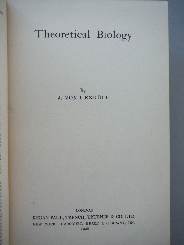 Image 1 of Theoretical Biology