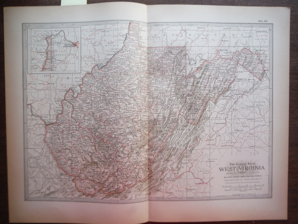 The Century Atlas  Map of West Virginia (1897)
