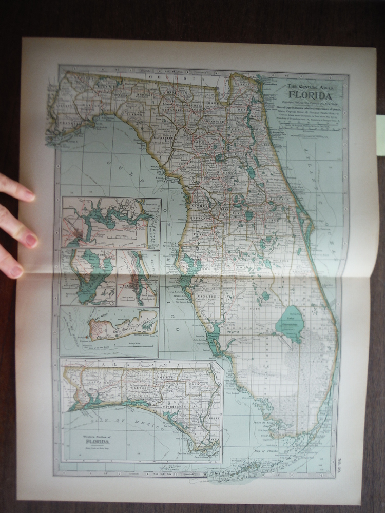 The Century Atlas  Map of Florida (1897)