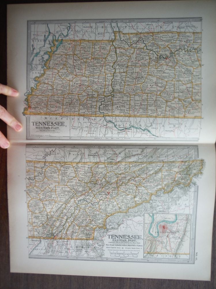 The Century Atlas  Maps of Tennessee (1897)