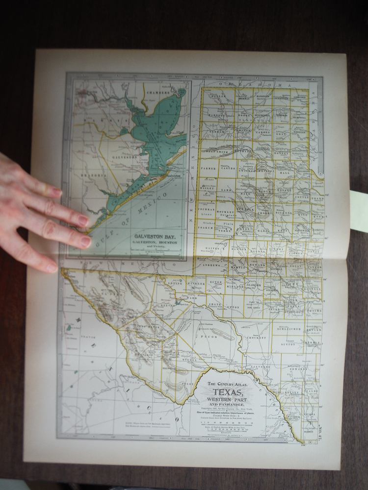 The Century Atlas  Map of Texas Western Part (1897)