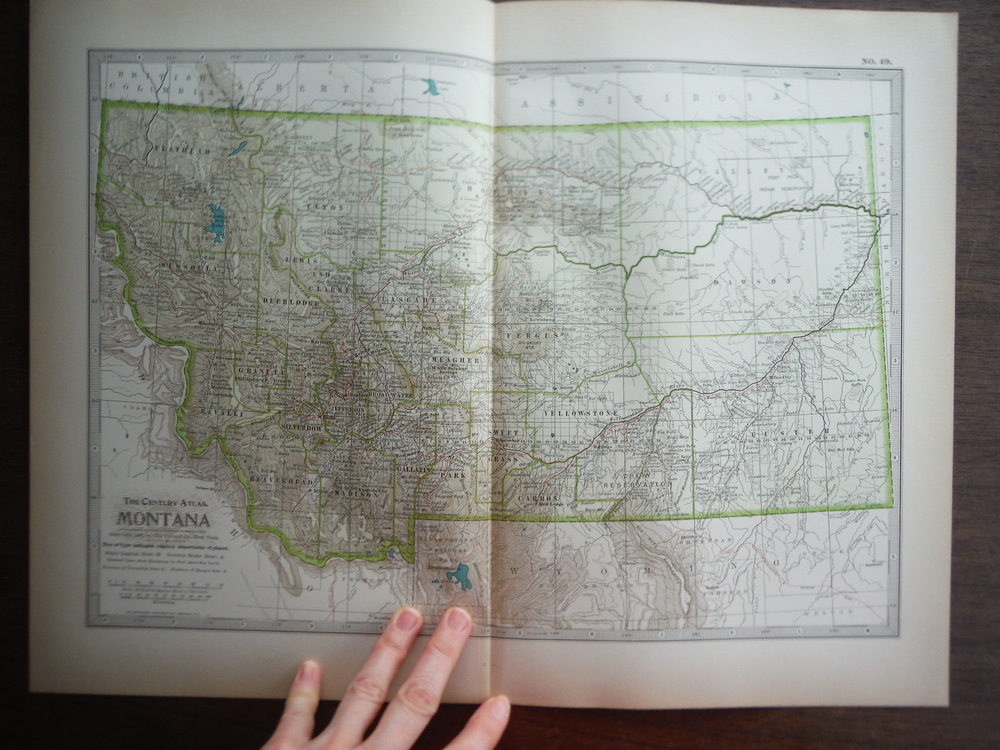 The Century Atlas  Map of Montana (1897)