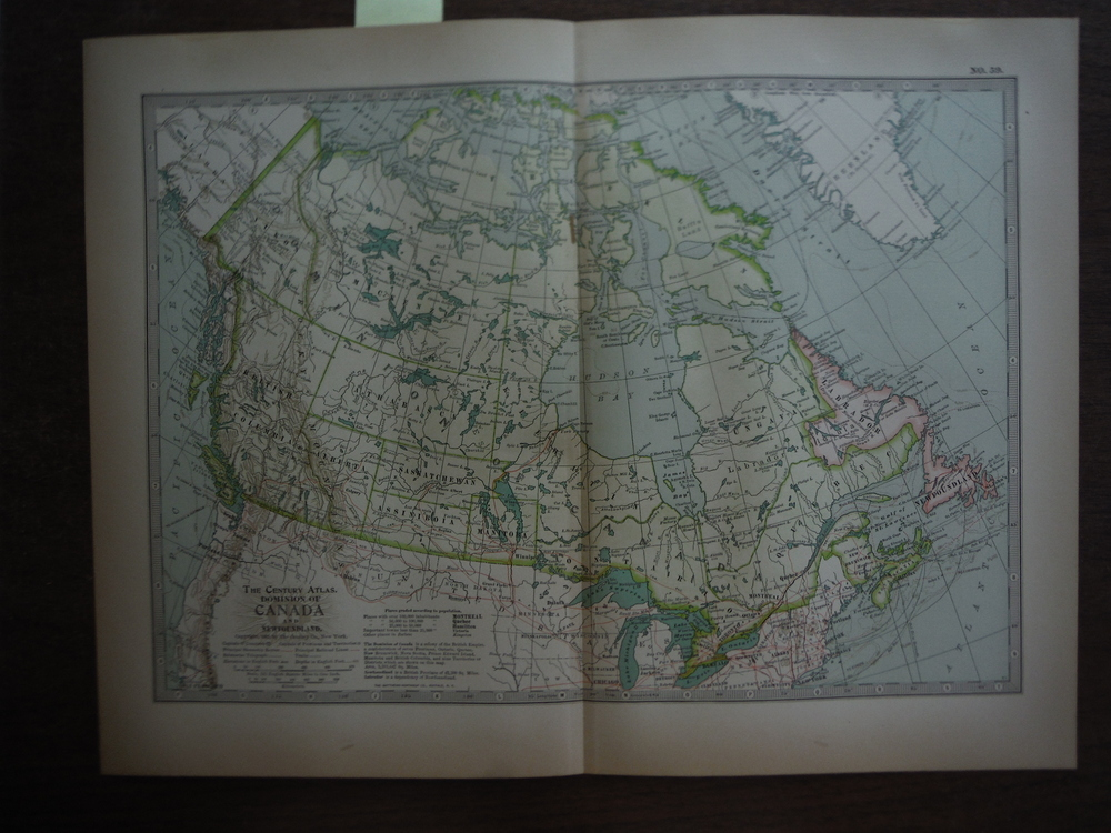 The Century Atlas  Map of the Dominion of Canada and Newfoundland (1897)