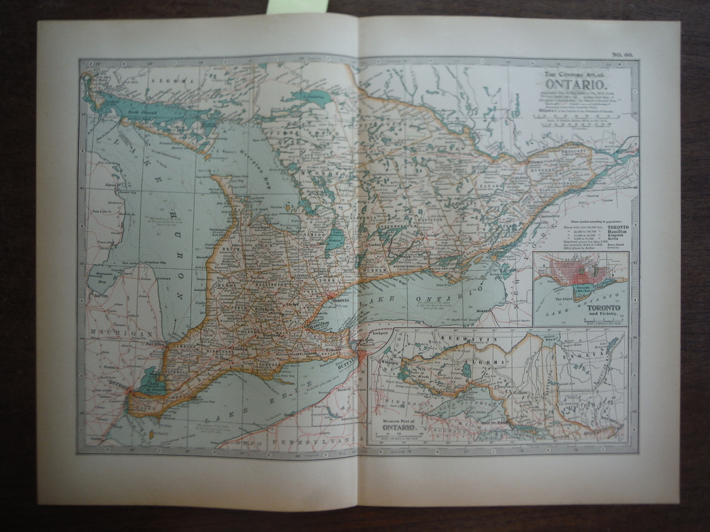 The Century Atlas  Map of Ontario (1897)