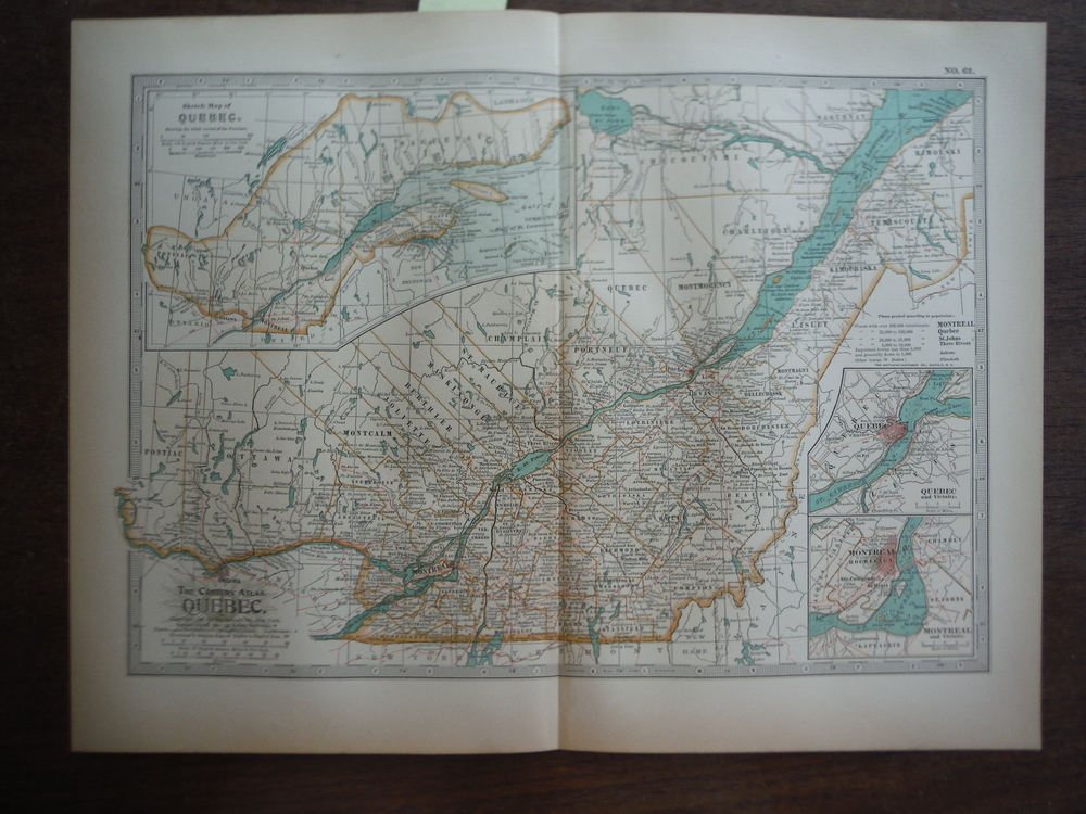 The Century Atlas  Map of Quebec (1897)