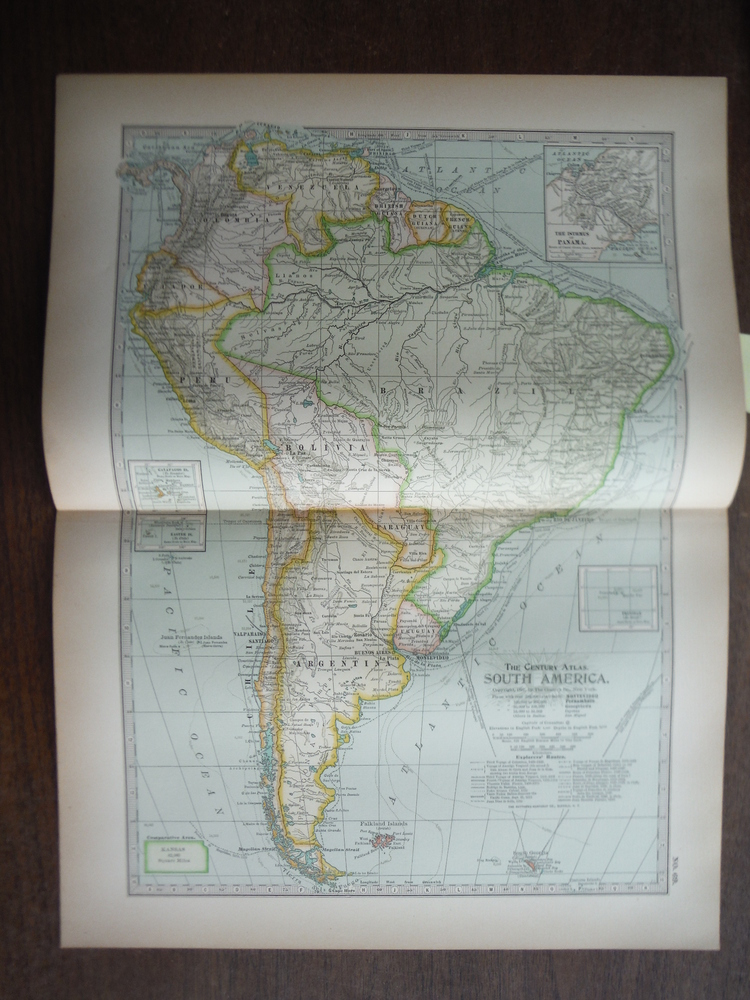 The Century Atlas  Map of  South America (1897)