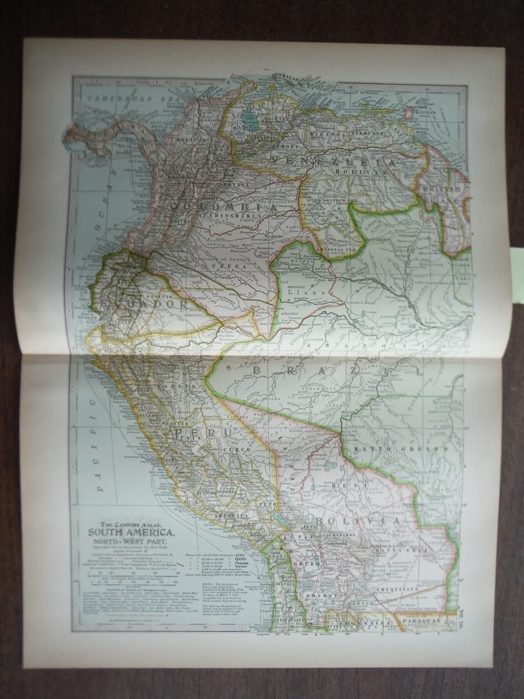 The Century Atlas  Map of  South America, Northwest Part (1897)