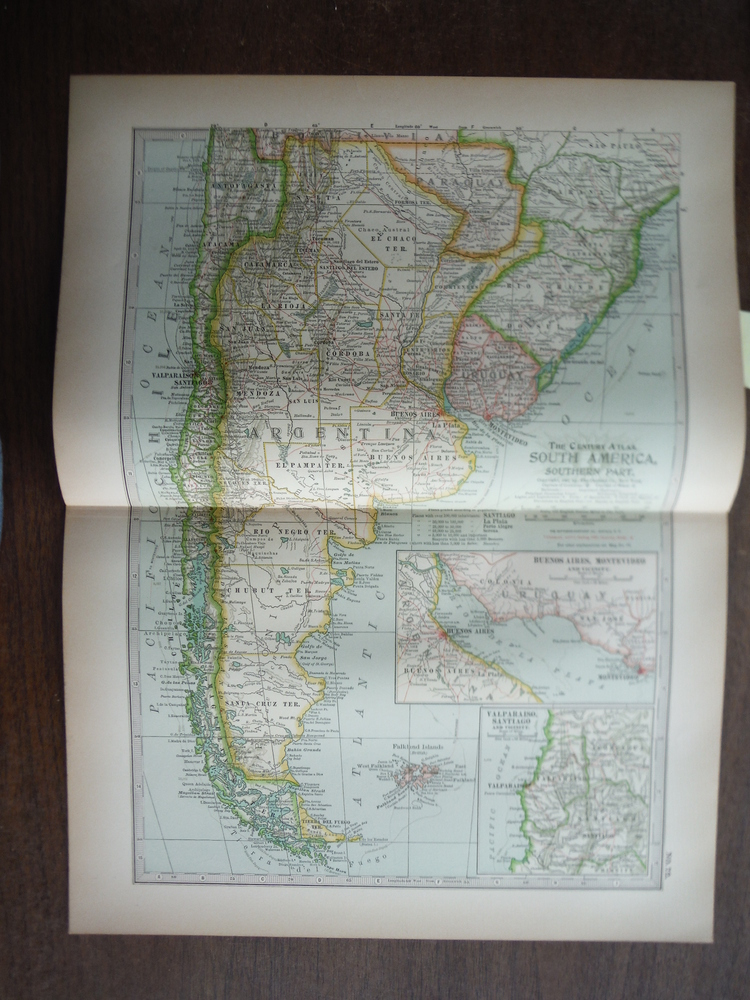The Century Atlas  Map of  South America, Southern Part (1897)