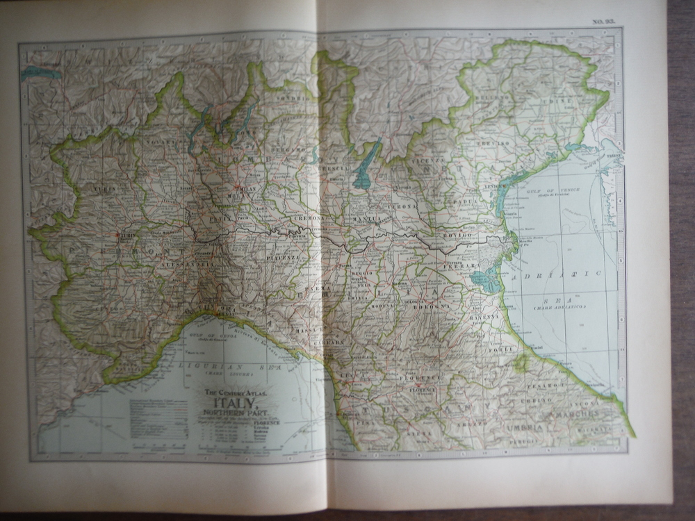 The Century Atlas  Map of  Italy, Northern Part(1897)