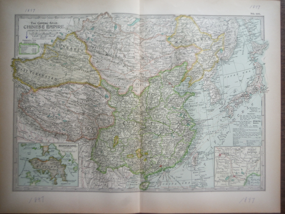 The Century Atlas  Map of Chinese Empire (1897)