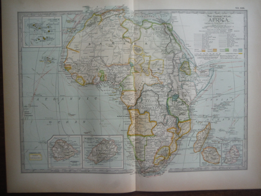 The Century Atlas  Map of Africa (1897)