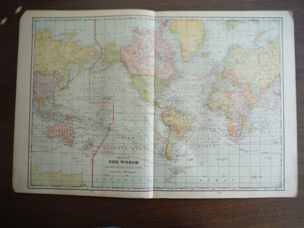 Cram's Map of the World on Mercator's Projection
