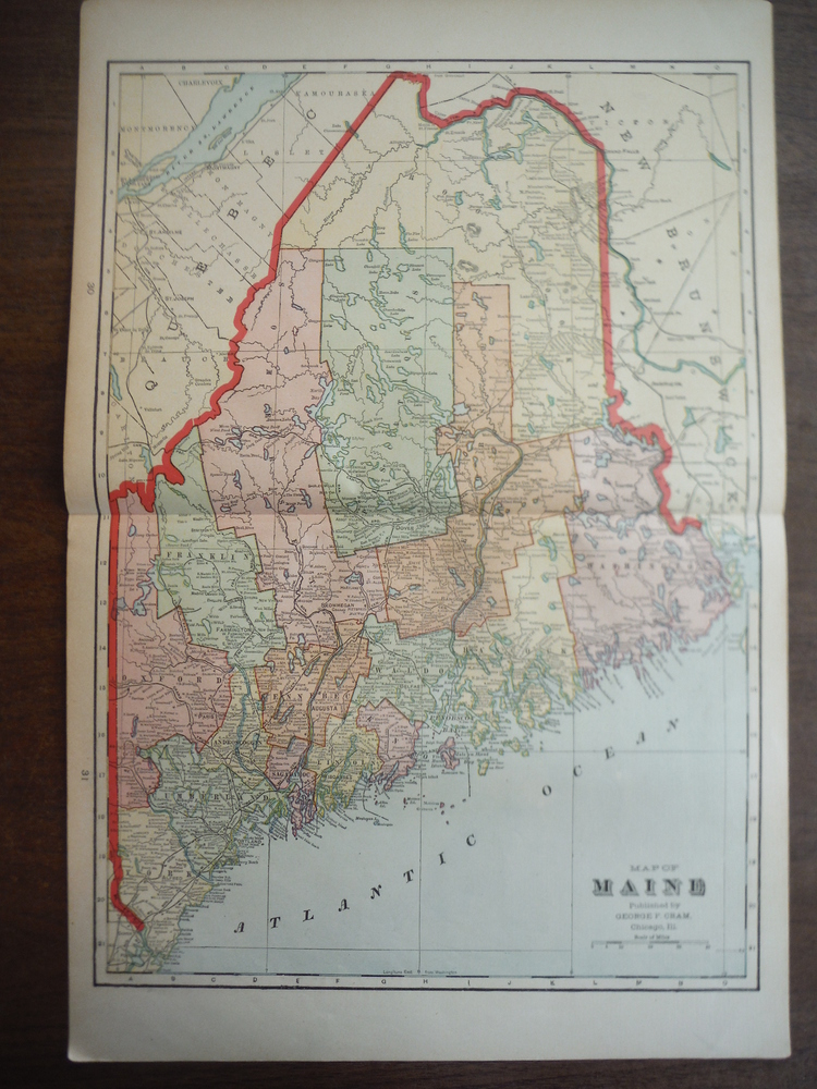 Image 0 of Cram's Map of Maine (1901)